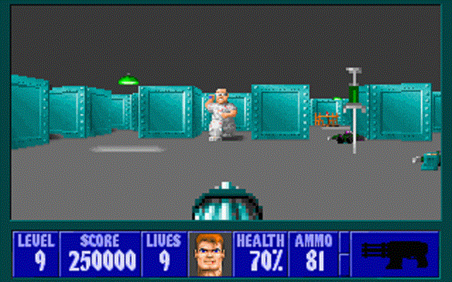 Wolfenstein 3D - Enemy Attacking With Syringe