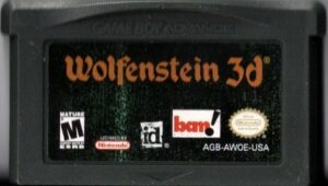 Wolfenstein 3D Game Boy Advance Cartridge