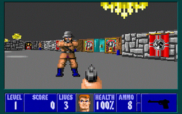 Wolfenstein 3D - Level 1