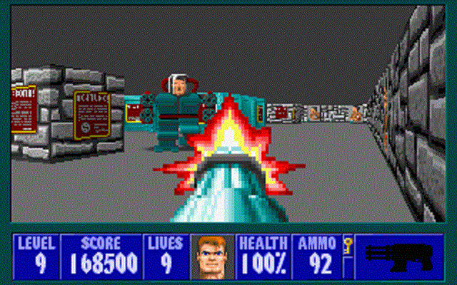 Wolfenstein 3D - Mechanized Hitler