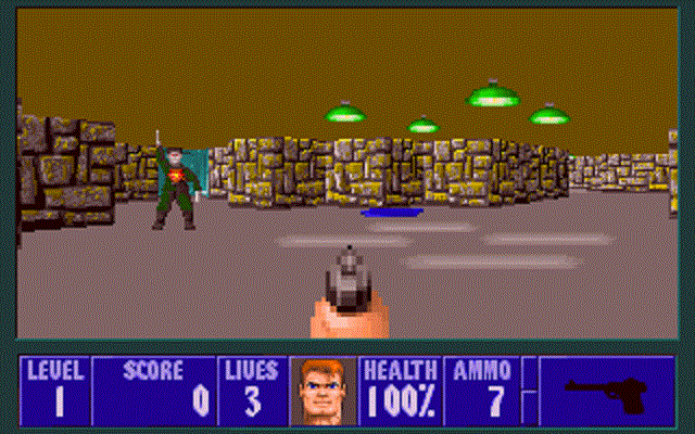 Wolfenstein 3D - Shooting Enemy