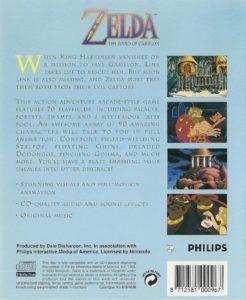 Zelda The Wand of Gamelon European Box Back