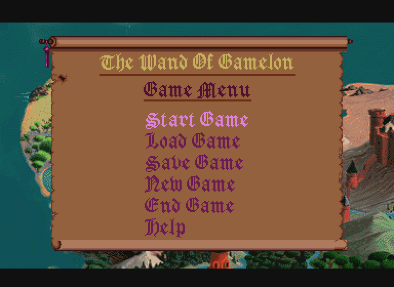 Zelda The Wand of Gamelon Main Menu