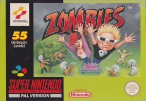 Zombies Ate My Neighbors Europe SNES Box
