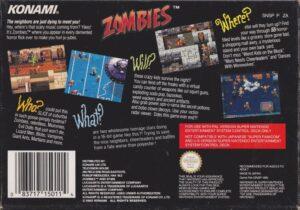 Zombies Ate My Neighbors Europe SNES Box Back