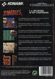 Zombies Ate My Neighbors Mega Drive Box Back