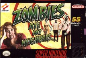 Zombies Ate My Neighbors SNES Box
