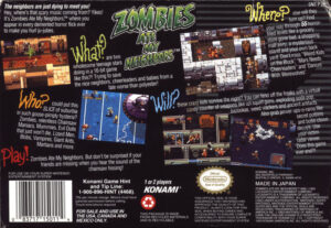 Zombies Ate My Neighbors SNES Box Back
