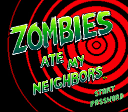 Zombies Ate My Neighbors - Title Screen