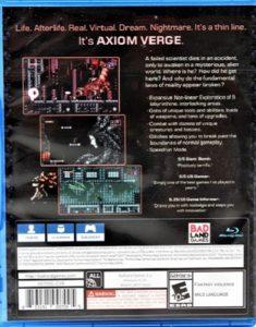 Axiom Verge PS4 Box Back
