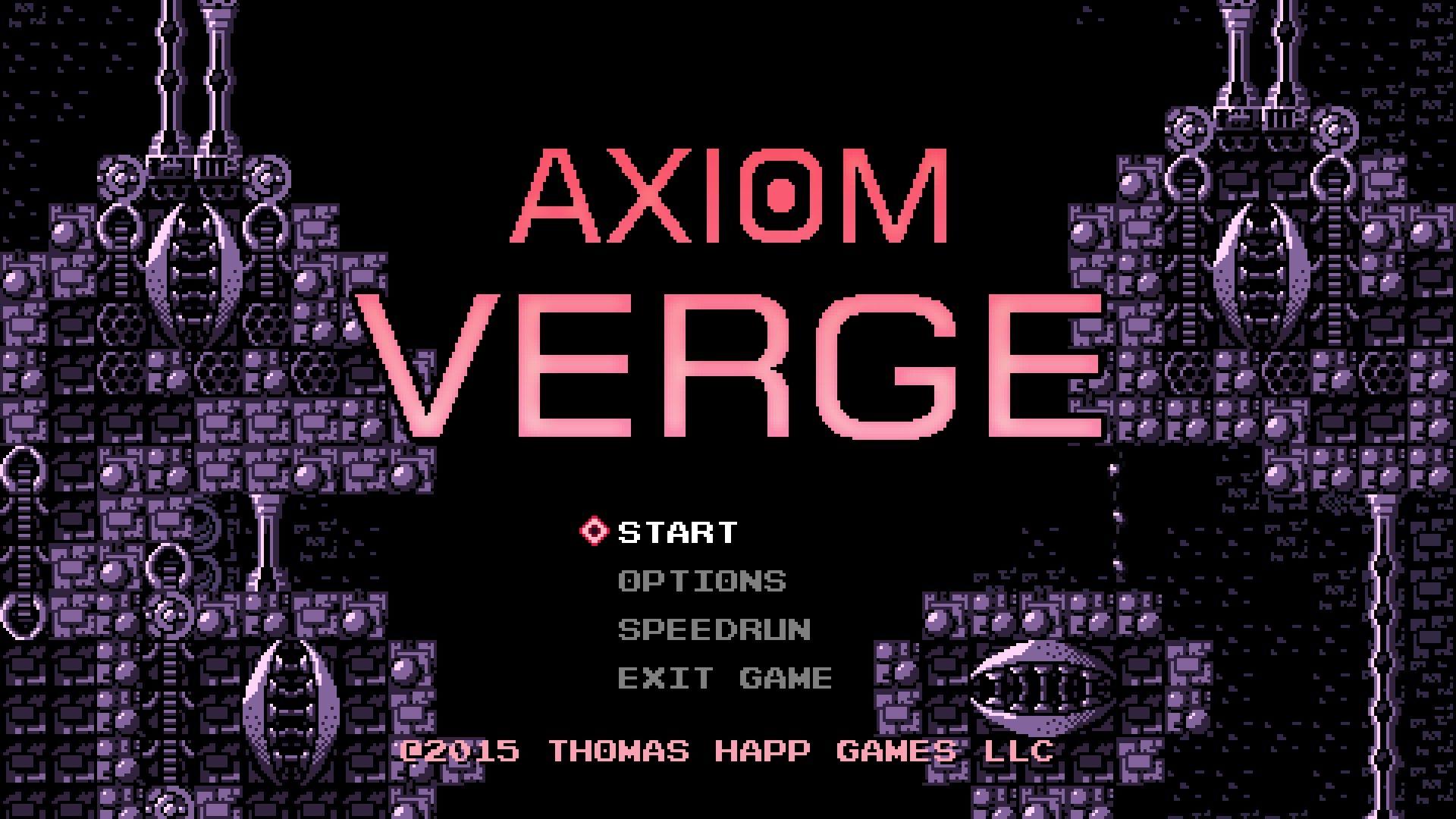 Axiom Verge Title Screen