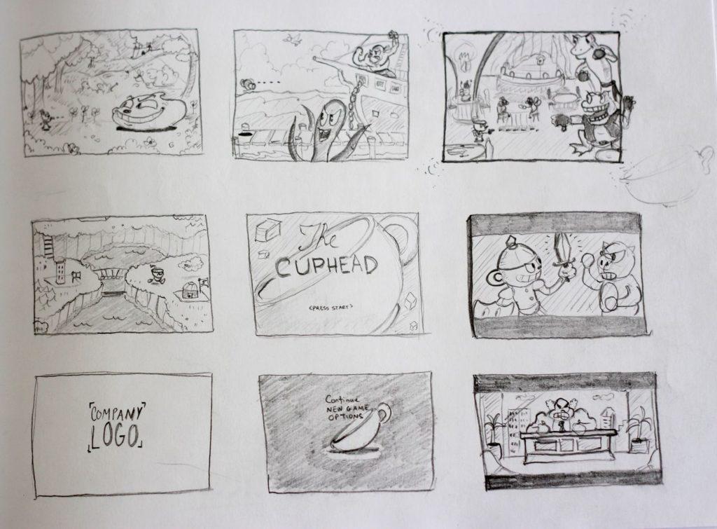 Cuphead Story Board