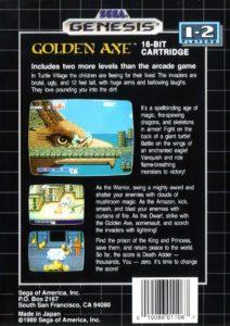 Golden Axe Box Back