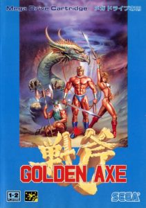 Golden Axe Japanese Mega Drive Box