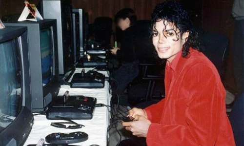 Michael Jackson playing Moonwalker