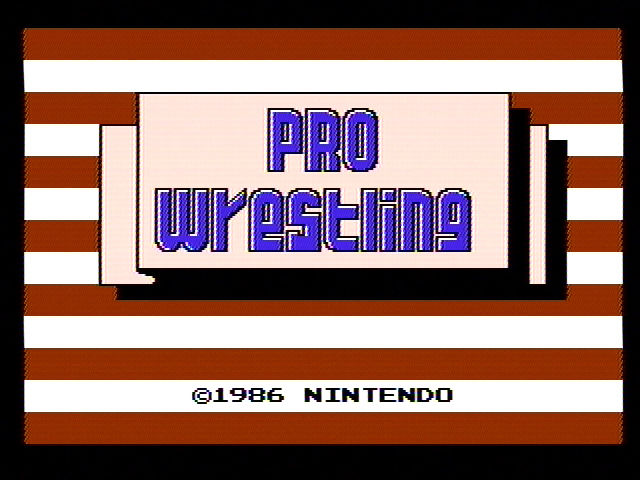 Pro Wrestling Title Screen