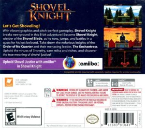 Shovel Knight 3DS Box Back