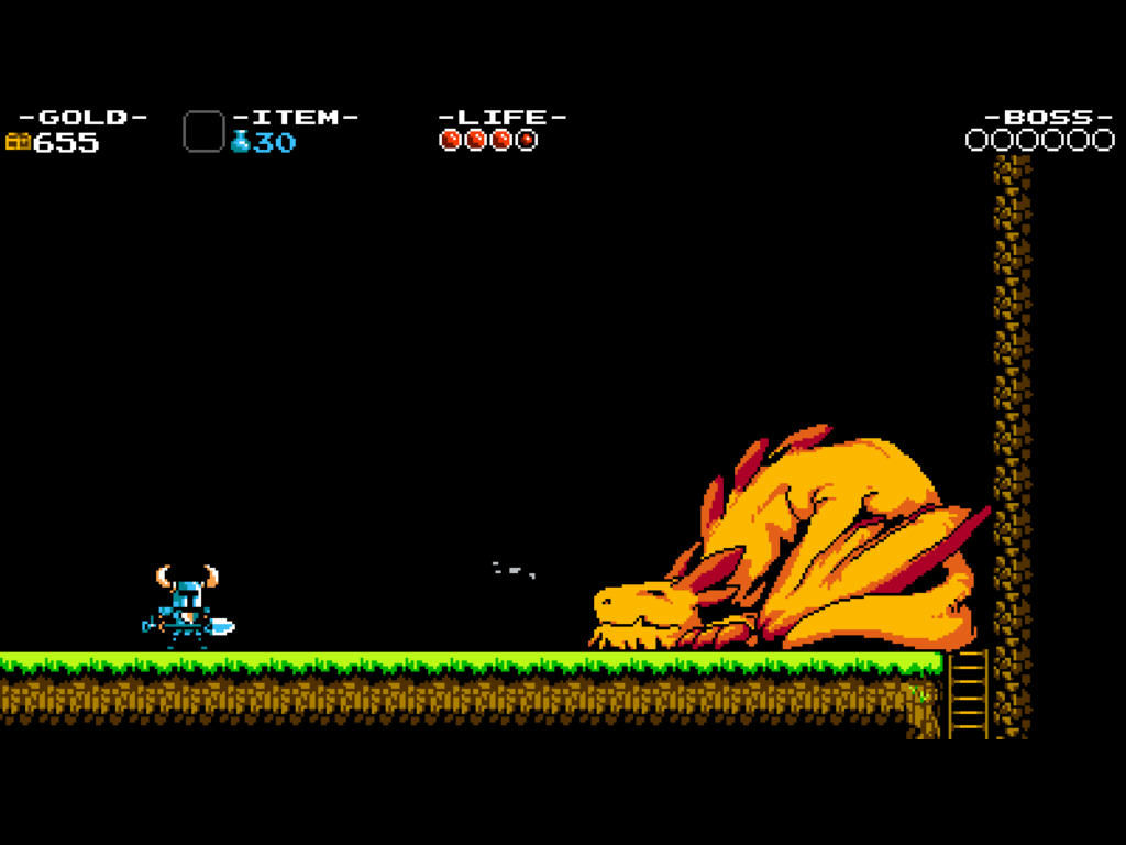 Shovel Knight First Boss