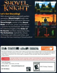 Shovel Knight PS Vita Box Back