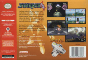 Star Fox 64 Box Back