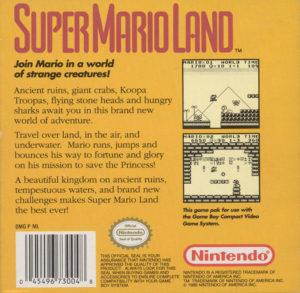 Super Mario Land Box Back