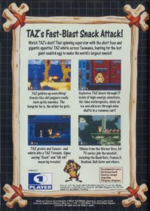 Taz-Mania Box Back