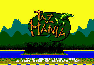 Taz-Mania Title Screen