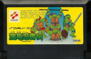 Teenage Mutant Ninja Turtles Famicom Cartridge