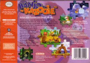 Banjo-Kazooie Box Back