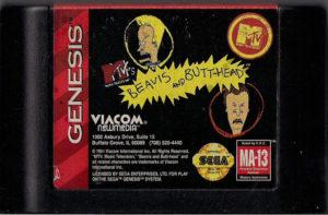 Beavis and Butt-Head Genesis Cartridge