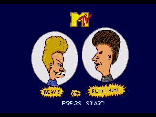 Beavis and Butt-Head Genesis Start Screen