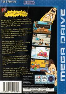 Beavis and Butt-Head Mega Drive Box Back
