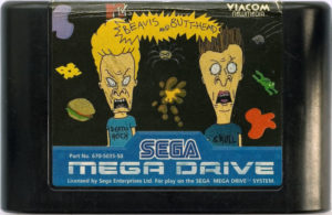 Beavis and Butt-Head Mega Drive Cartridge