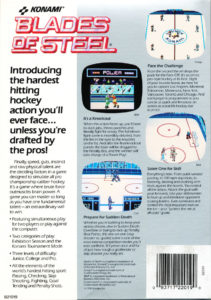 Blades of Steel DOS Box Back