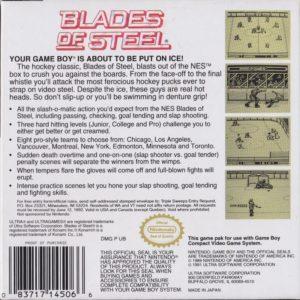 Blades of Steel Game Boy Box Back
