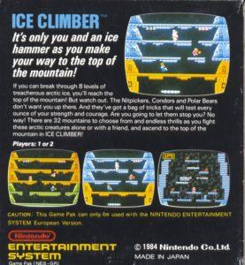 Ice Climber European Box Back