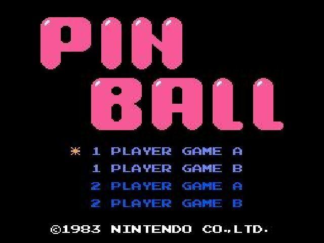 Pinball Title Screen