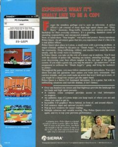 Police Quest Box Back