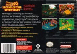 Super Mario RPG Box Back