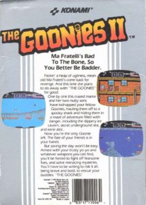 The Goonies II Box Back