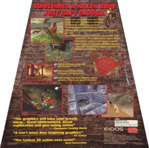 Tomb Raider DOS Box Back