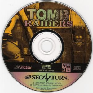 Tomb Raider Japanese Saturn Disc