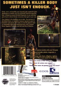 Tomb Raider Saturn Box Back