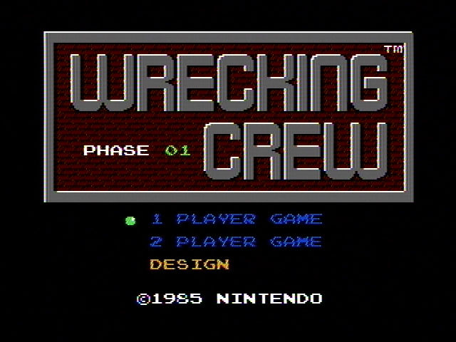 Wrecking Crew Title Screen