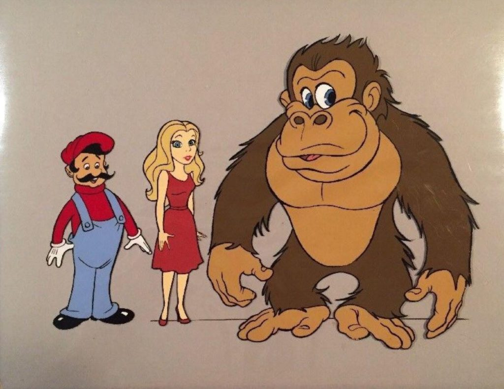 Animation Cel of Donkey Kong, Pauline and Mario