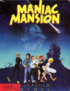Maniac Mansion Apple II Box