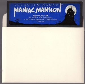 Maniac Mansion Apple II Floppy Disk