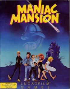 Maniac Mansion Commodore 64 Box