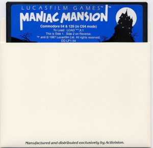 Maniac Mansion Commodore 64 Floppy Disk