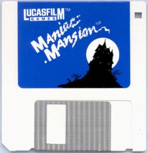 Maniac Mansion DOS 3.5 Floppy Disk
